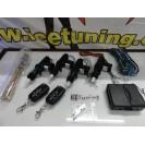 Kit Fecho Central Universal + Pistolas + 2 Comandos Com Chave Retratil Tipo Audi / VW C/2 Anos De Garantia
