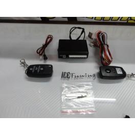 Kit Fecho Central Universal + 2 Comandos Com Chave Retratil Tipo Audi / VW C/2 Anos De Garantia