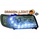 DAYLINE headlights AUDI 100 Typ 4C_ drl optic _ chrome