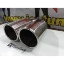 Ponteiras De Escape Dupla 2x 76mm X 220MM 100% Inox