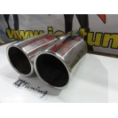 Ponteiras De Escape Dupla 2x 89mm X 340MM 100% De Inox