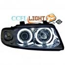 Farois frontais (1016481) Audi A4 95-98, crómio, CCFL LIGHT