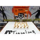 Capas / tampas universais estilo LUG NUTS Foliatec magnético em alumínio, dourado