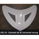 Entrada de Ar Top Racing universal em fibra