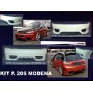 Peugeot 206 MODENA KIT em fibra