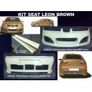 Seat Leon BROWN KIT em fibra