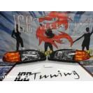 Kit Honda civic 92-95 3 portas, coilovers + farois frontais + piscas + lip + Aileron