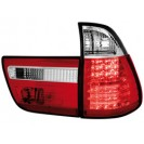 taillights BMW X5 00-02 _ LED _ red/crystal
