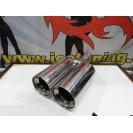 Ponteiras de escape dupla saida 2x 100mm x 355MM