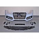 Para-choques frontal + Lip / spoiler Audi A3 8V +16 / Cabrio / Sportback Look RS3 em plastico