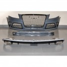 PáraChoquesF (1017653) Audi A4 Lim/Avant(8E) 04-07, RS4 Optic, with integrated grille, for vehicles with park assist sensor