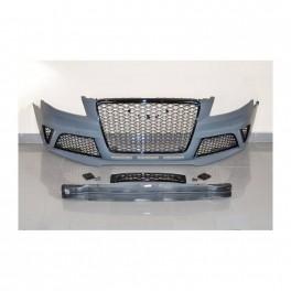 Kit para-choques frontal + difusor traseiro + ponteiras RS4 look para Audi A4 B8, de 2008-2012 em plastico ABS
