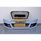 Para-choques frontal com friso em carbono RS4 look para Audi A4 B9 / 8W, + 2016 em plastico ABS