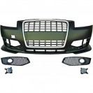 PáraChoquesF (1031650) Audi A3 03-08, Front, RS3 Opctic, with integrated grille, for vehicles without park assist sensor...