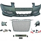 PáraChoquesF (1031651) Audi A3 03-08, Front, RS3 Optic, with integrated grille, for vehicles with park assist sensor