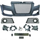 PáraChoquesF (1032651) Audi A3 08-12, Front, RS3 Optic, with integrated grille, for vehicles without park assist sensor