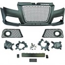 PáraChoquesF (1032653)  Audi A3 08-12, Front, RS3 Optic, with integrated grille, for vehicles with park assist sensor