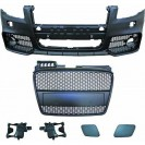 PáraChoquesF (1017650) Audi A4 Lim/Avant(8E) 04-07, Front, RS4 Optic, with integrated grille, Over-paintable