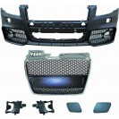 PáraChoquesF (1017652) Audi A4 Lim/Avant(8E) 04-07,RS4 Optic,with integrated grille,for vehicles without park assist sensor