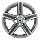 Jante ALESIA Silver com aba polida 9.5X18 5x120 ET20 CB74.1