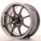Japan Racing JR5 15x7 ET35 4x100 Preto brilhante com aba polida