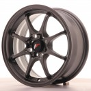 Japan Racing JR5 15x7 ET35 4x100 gun metal com aba polida