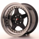 Japan Racing JR6 15x7 ET25 4x100/108 Preto brilhante com aba polida