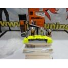 Tinta alta temperatura Foliatec, amarelo neon, para bombas / pinças de travão, kit 3 componentes + kit de instalação