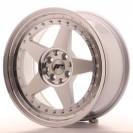 Japan Racing JR6 16x7 ET35 4x100/114.3 cinza prata com aba polida