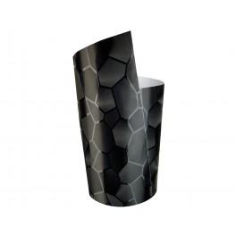 Película, autocolante vinil em preto brilhante hexágonos 152 x 20cm