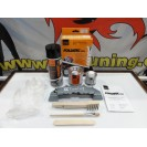 Tinta alta temperatura Foliatec, Cinza prata marina bay metalico, para bombas / pinças de travão, kit 3c. + kit de instalação