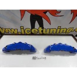 DIY Capas de travao Brembo com tinta de alta temperatura Foliatec Azul racing Brilhante