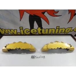 DIY Capas de travao Brembo com tinta de alta temperatura Foliatec Dourado metálico Brilhante