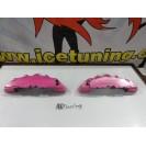 DIY Capas de travao Brembo com tinta de alta temperatura Foliatec Rosa metálico Brilhante