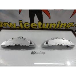 DIY Capas de travao Brembo com tinta de alta temperatura Foliatec cinza prata metálico Brilhante