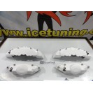 Kit 4 capas de travao Brembo com tinta de alta temperatura Foliatec Branco Brilhante
