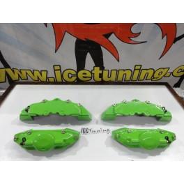 Kit 4 capas de travao Brembo com tinta de alta temperatura Foliatec Verde Green power Brilhante