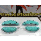 Kit 4 capas de travao Brembo com tinta de alta temperatura Foliatec Azul Turquesa Brilhante