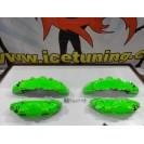 Kit 4 capas de travao Brembo com tinta de alta temperatura Foliatec Verde Neon Brilhante