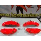 Kit 4 capas de travao Brembo com tinta de alta temperatura Foliatec Vermelho Neon Brilhante