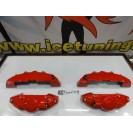 Kit 4 capas de travao Brembo com tinta de alta temperatura Foliatec Vermelho Performance Brilhante