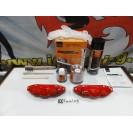 Capas Brembo + Tinta alta temperatura Foliatec Vermelho Performance Brilhante
