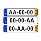 Matriculas rectangulares em acrílico, homologadas em Portugal