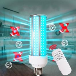 Lâmpada desinfecção, esterilização em LED UV 60w ultravioleta uvc 220V + suporte + comando (elimina ácaros, vírus, etc)