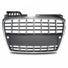 Grelha, JOM, Audi A4 8E (B7) 04-08, facelift, sport style, chrome_black with PDC recesses
