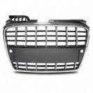 Grelha, JOM, Audi A4 8E (B7) 04-08, facelift, sport style, chrome_black with PDC recesses
