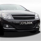 Grelha, Opel Astra H 3 doors 05-07, black, badgeless, sport look