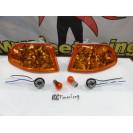 KIT Piscas frontais laranja EuroLook HONDA CIVIC 92-95 4 Portas Com função de mínimo+pisca USA LOOK