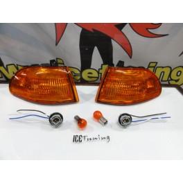 KIT Piscas frontais laranja JDM HONDA CIVIC 92-95 3 Portas Com função de mínimo e pisca USA LOOK