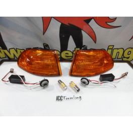 KIT Piscas frontais laranja JDM HONDA CIVIC 92-95 2, 3 Portas Com função de mínimo e pisca USA LOOK